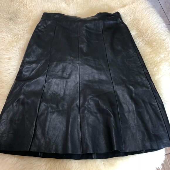 4a4dc9101e1 Nordstrom Signature Black leather skirt